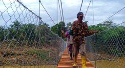 Horee Warga Kampung Susukan Kini Punya Jembatan
