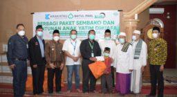 LAZ Harfa Bersama Baitul Maal PT Krakatau Daya Listrik Berbagi Paket Sembako dan Santunan
