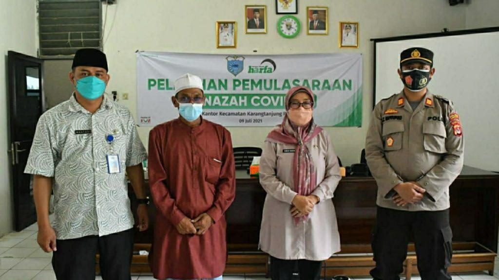 LAZ Harfa bersama Pemerintah Kecamatan Karang Tanjung Gelar Pelatihan Pemulasaraan Jenazah Covid-19