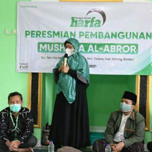 LAZ Harfa Resmikan Mushola Al Abror Tanara Banten