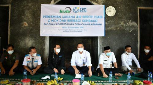 LAZ Harfa dan YBM PLN Resmikan Pembangunan SAB dan MCK di Kabupaten Lebak